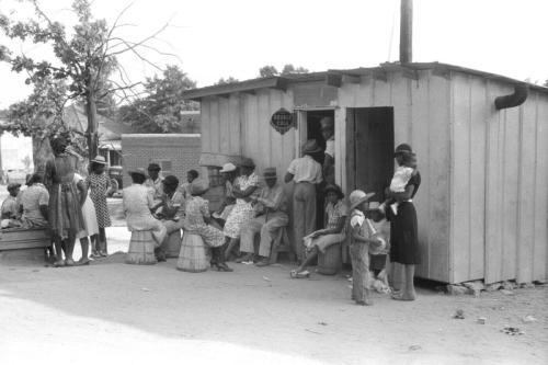 A black barber shop in rural Georgia_ 1941