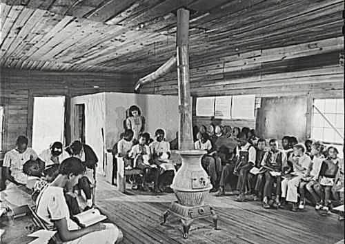 A one teacher African American school in Greene County_ Georgia_ 1941